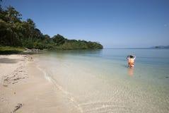 Nai человека Koh, необжитый остров, Trat, Таиланд Стоковые Изображения RF