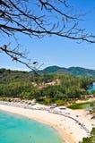 Nai-han Beach Phuket Thailand on April 2010 Royalty Free Stock Images