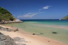 nai harn конца пляжа утесистый Стоковое Изображение RF