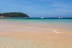 The Nai Harn beach in Phuket island stock photos