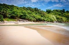 Nai Harn beach in Thailand. A lonely beach, Thailand Nai Harn Phuket Stock Photo