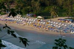 Nai Harn offentlig strand Fotografering för Bildbyråer