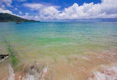 Nai Yang Beach blue cloundy sky with old tree on the beach Phuket,Thailand, Stock Photo