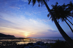 Nai Yang beach at dusk Stock Photos