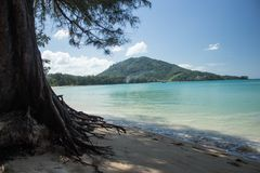 NAI YANG Beach i den Phuket ön, Thailand-2 arkivfoton