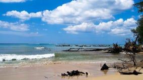 Nai Yang Beach Phuket, Thailand arkivbilder