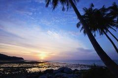 Nai Yang strand bij schemer Stock Foto's