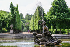 Naiad Fountain in the garden of Schonbrunn Palace, Vienna Stock Images