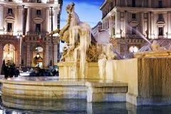 Naiadi fontanna marznąca Zdjęcie Stock