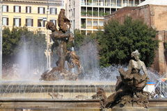 Naiads fountain in Rome Stock Photography