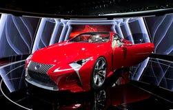 NAIAS híbrido 2012 del concepto de Lexus LF-LC Fotos de archivo libres de regalías