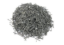 Nail. Pile of nail on white background Royalty Free Stock Image