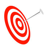 Nail it!. A rendered target and nail to help drive your point home Stock Photo