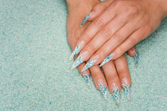 Nail art. Nice hands with nail art Royalty Free Stock Image