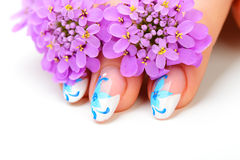 Free Nail Art And Flower Royalty Free Stock Photo - 25413285