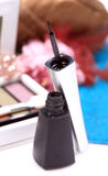 Nail art brush stock photography