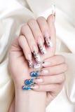 Nail art close-up Royalty Free Stock Image