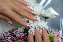 Nail art design Stock Photos
