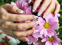 Nail art design Royalty Free Stock Photography