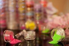 Nail art flitters Stock Photos