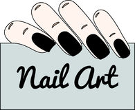 Nail art. Gothic manicure. Vector illustration Royalty Free Stock Images