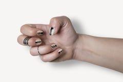 Nail art hand Royalty Free Stock Photo