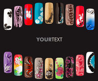 Nail art handmade Stock Photography