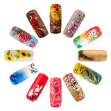 Nail art handmade Royalty Free Stock Photography