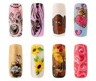 Nail art handmade Stock Photos
