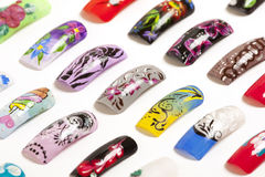 Nail art handmade Royalty Free Stock Image