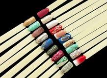 Nail art handmade samples Stock Photos