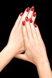 Nail Art.Magnetic Nail Lacquer. Tattoo Stock Images
