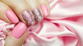 Nail Art Manicure. Royalty Free Stock Photo