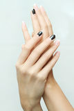 Nail art manicure. Royalty Free Stock Image