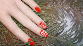 Nail art manicure. Royalty Free Stock Photography