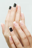 Nail art manicure. Royalty Free Stock Images