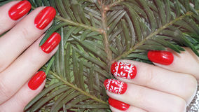 Nail art manicure. royalty free stock photo