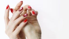 Nail art manicure. stock photos