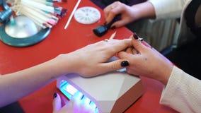 Nail Art Polish UV Gel Acrylic Dryer stock video footage