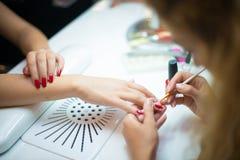Nail art salon, Nail art, nail art for wedding, Beauty salon for nails royalty free stock images