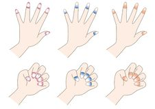 Nail art set - Color variations stock illustration