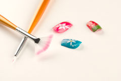 Nail art still life Stock Photography