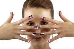 Nail Art Stock Photo