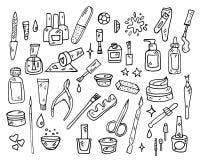 Nail Beauty Spa διανυσματικό εικονίδιο μανικιούρ Στοκ εικόνες με δικαίωμα ελεύθερης χρήσης