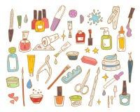 Nail Beauty Spa διανυσματικό εικονίδιο μανικιούρ Στοκ Εικόνες