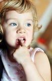 Nail-biting royalty free stock photography