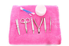 Nail care accessories Stock Photos