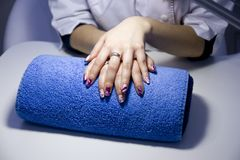 Nail care beauty Stock Photo