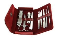 Nail care kit Stock Photo