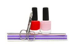 Nail care and polish Stock Images